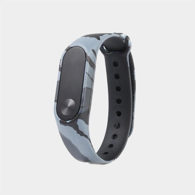 بند سیلیکونی ارتشی دستبند سلامتی شیائومی مدل Mi Band 2