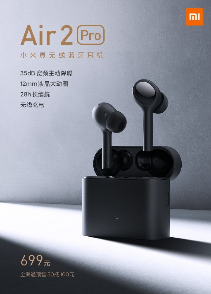 Xiaomi Mi Air 2 Pro TWS headphones are available in China